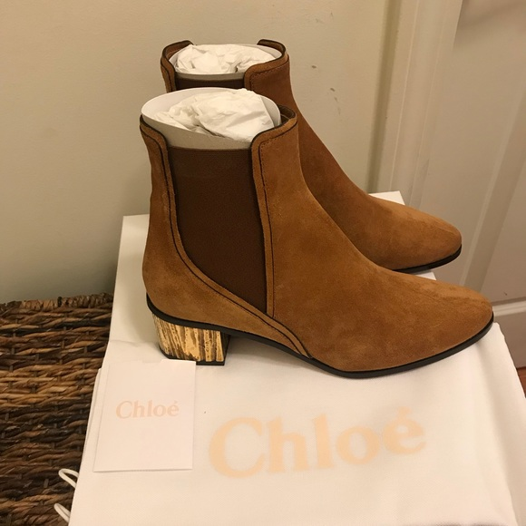 55b2e0fb55081 NEW Chloe Quassie Suede Ankle Boots 40.5 EUR